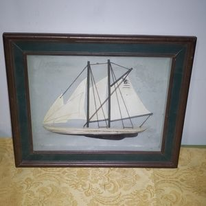 Shadow box 3d boat picture